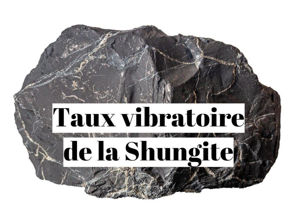 Taux vibratoire de la shungite?